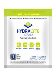 Hydralyte Electrolyte Powder Lemon Flavour, 10 Packets x 10g