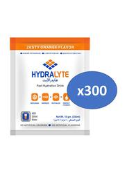 Hydrolyte Orange Flavor Electrolyte Powder Hydration Drink Mix, 300 Sachets x 10g