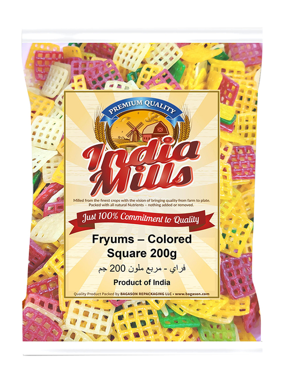 India Mills Fryums Square, 200g