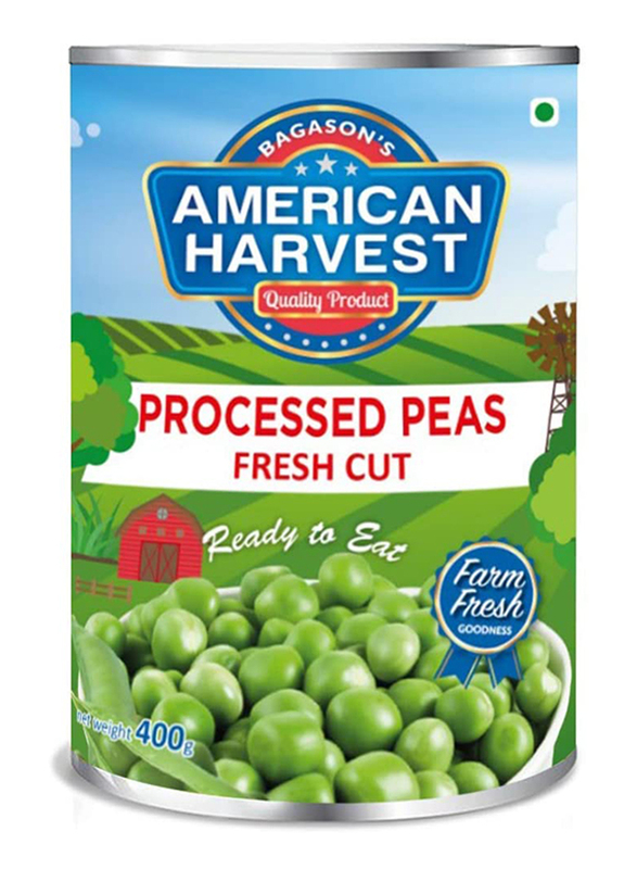 American Harvest Green Peas Easy Open Can, 400g
