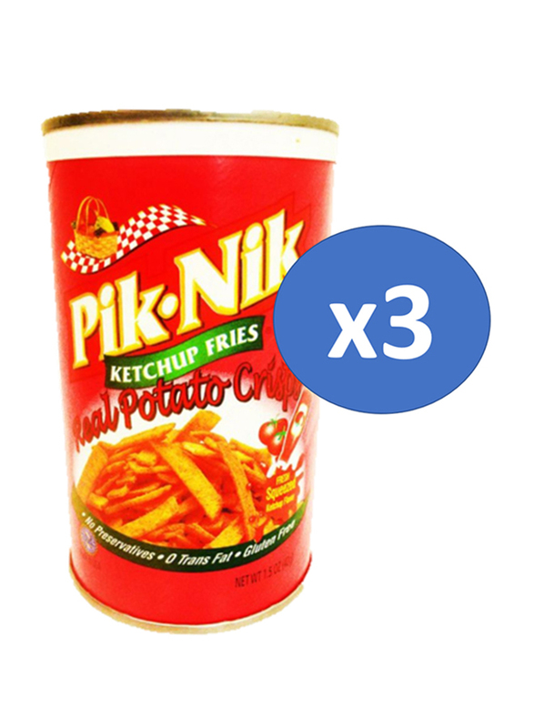 Pik-Nik Ketchup Shoestring Potatoes Crisp, 3 Cans x 42g
