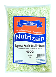 Nutrizain Pandan Green Tapioca Pearl Sago Small Seeds, 400g