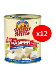 India Mills Malai Paneer Cubes, 12 Cans x 825g