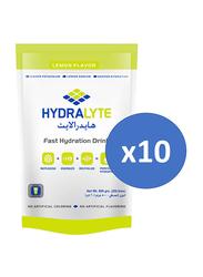 Hydralyte Electrolyte Powder Lemon Flavour, 10 Packets x 800g