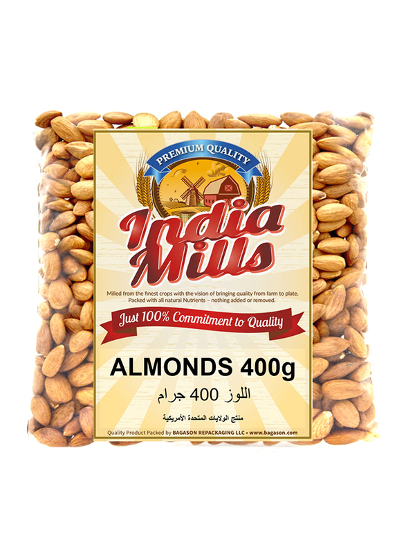 India Mills Almonds, 400g