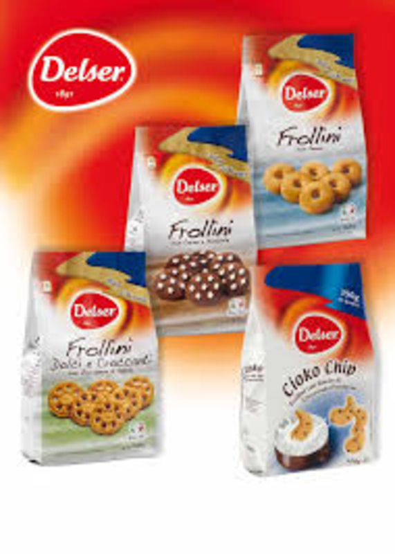 Delser 1891 Favole Frollini Italian Milk Biscuits with Sugar Crystals, 600g