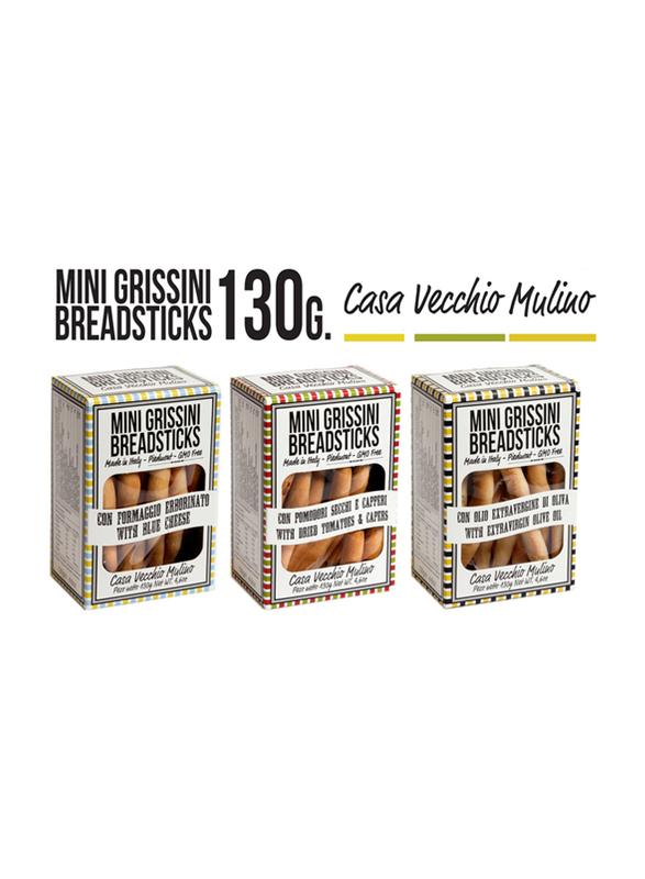Casa Vecchio Mulino Italian Mini Breadsticks with Dried Tomatoes and Capers, 130g