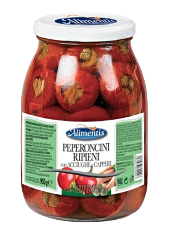 Alimentis Gluten Free Hot Peppers Filled with Anchovies and Carpers, 950g