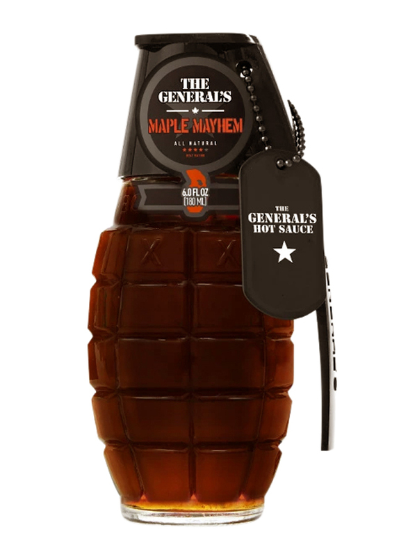 The General's Hot Sauce Maple Mayem Sauces, 180ml