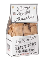 Casa Vecchio Mulino Biovette Piemontesi Italian Mini Flat Bread with Black Olives, 150g