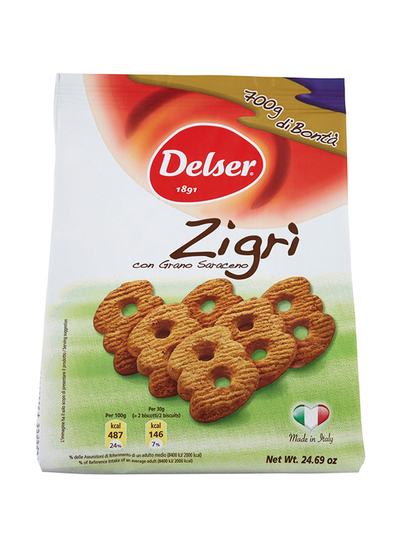 Delser 1891 Zigri Frollini Biscuits with Buckwheat Great, 700g