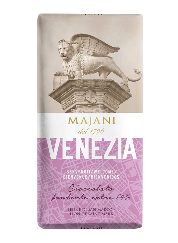 Majani 1796 Venezia Extra Dark Chocolate Bar, 100g