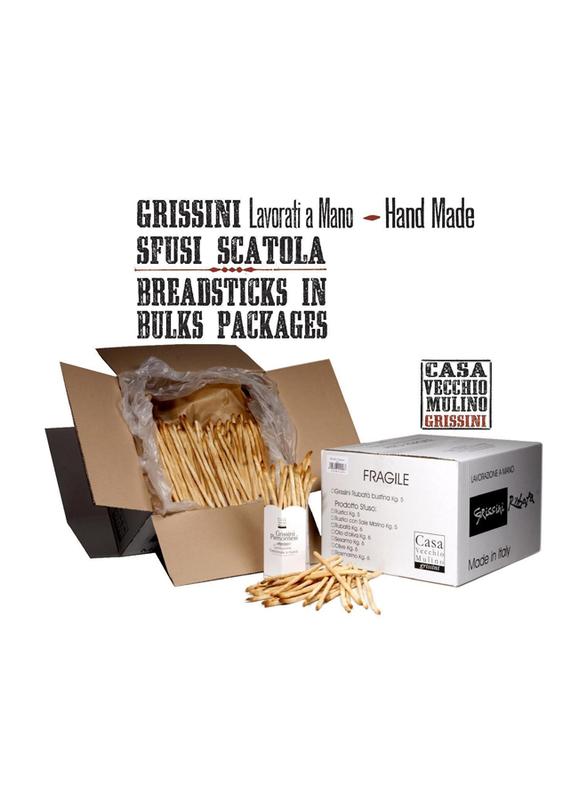 Casa Vecchio Mulino Italian Classic Stolen Long Breadsticks in Olive Oil, 4.2 kg