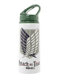 Attack On Titan Season 2 Scouts Logo Aluminium Water Bottle, 700ml, White