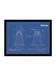 Doctor Who Dalek Art Print Poster, Framed, 30 cm x 40 cm