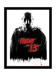 Friday The 13th Jason Voorhees Movie Poster, Glass Framed, 36 cm x 46 cm