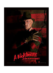 A Nightmare On Elm Street Movie Poster, Glass Framed, 36 cm x 46 cm