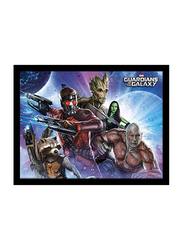 Guardians of The Galaxy Movie Poster, Glass Framed, 36 cm x 46 cm
