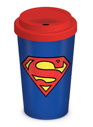 Superman Logo Ceramic Travel Mug, 340ml
