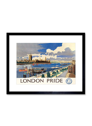 London Pride Art Print Poster, Framed, 30.4 cm x 40.6 cm