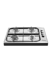 Elekta Stainless Steel Built-In Gas Hob 4 Gas Burners with Full safety, EGC-B506SS, Silver