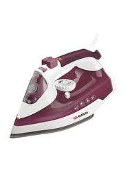 Elekta Electric Steam Iron, 2400W, ESI-2892XY-S, White/Burgundy