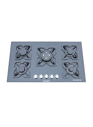 Elekta Built-In Tampered Glass 5 Burner with Full Safety, EGC-B509GL, Black