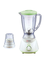 Elekta 1.5L Plastic Jar Blender with 1 Grinder, 300-327W, EFBG-1586, White/Green