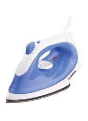 Elekta Dry Iron with Spray and Non-Stick Sole, 1170W, ESI-1545-S, White/Blue