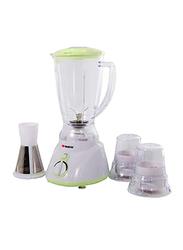 Elekta 1.5L Plastic Jar Blender with 2 Grinder and Filter, 300W, EFBG-1584, White/Green