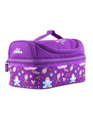 Smily Kiddos Dual Slot Lunch Bag for Kids, Purple