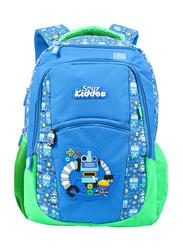 Smily Kiddos Dual Color Backpack for Kids, Blue