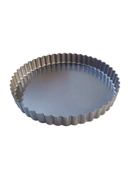 De Buyer 32cm Non-Stick Round Fluted Tart Mould Cake Pan, 560gm, 4705.32, Silver