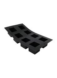 De Buyer 4.5cm MoulFlex Silicone 8 Cubes Mold Tray, B001CFLO8E, 30x17.5x4.5 cm, Black