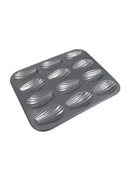 De Buyer 1 Piece Square 12 Madeleine's Baking Tray, 4710.12, 7.2x1.4 cm, Grey