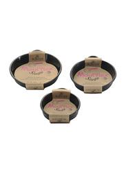 De Buyer 8cm Moul Flex Single Non-Stick Round Tartlet Baking Tray, 1980.08, 8x2 cm, Black