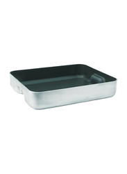 De Buyer 40cm Choc Classic Non-Stick Rectangular Roasting Pan, 8126.40, 40x32x8 cm, Silver