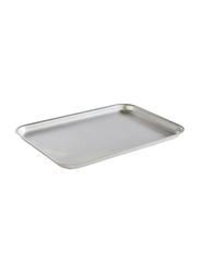 APS Germany 32cm Aluminium Rectangle Baking Tray, 13380, 32x21.5x2 cm, Silver