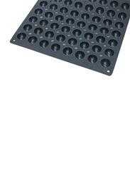De Buyer 60cm Moul'Flex Pro Silicone 96 Mini Hemispherical Moulds Baking Tray, 60x40 cm, Black