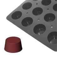 De Buyer 60cm Moul'Flex Pro Silicone 24 Portions Muffins Moulds Baking Tray, 60x40 cm, Black