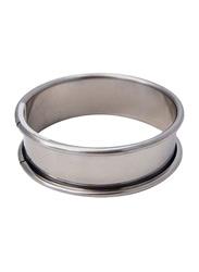 De Buyer 12cm Stainless Steel Round Ring Rolled Edge Tart, 3091.12N, 12x2 cm, Silver