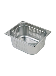 APS Germany 15cm Stainless Steel Rectangle 1/2 Perforated Gn Pan, 81903, Silver