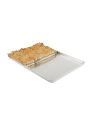 APS Germany 48cm Aluminium Rectangle Baking Tray, 13378, 48x32x2 cm, Silver