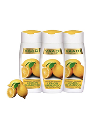 Vaadi Herbals Dandruff Defense Organic Lemon Shampoo, with Tea Tree Extract, 110ml, 3 Pieces