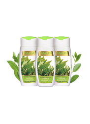 Vaadi Herbals Superbly Smoothing Organic Heena Shampoo, with Green Tea Extract for Dry and Frizzy Hair, 110ml, 3 Pieces