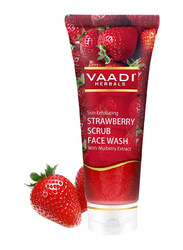 Vaadi Herbals Strawberry Scrub Face Wash, with Mulberry Extract, 60ml