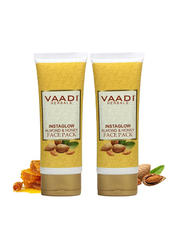 Vaadi Herbals Organic InstaGlow Face Cream, with Almond and Honey, 120gm, 2 Pieces
