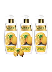 Vaadi Herbals Dandruff Defense Organic Lemon Shampoo, with Tea Tree Extract, 350ml, 3 Pieces