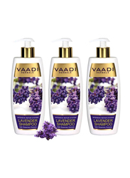 Vaadi Herbals Intensive Repair Organic Lavender Shampoo, with Rosemary Extract for Damaged Hair, 350ml, 3 Pieces
