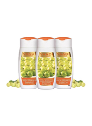 Vaadi Herbals Amla-Shikakai Organic Shampoo, with Reetha Extract for Hairfall & Damaged Hair, 110ml, 3 Pieces